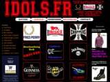 Boutiques en ligne Habillement : www.idols.fr IDOLS ROCK MERCHANDISING