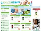 Boutiques en ligne Compléments alimentaires : Santemarket
