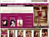 Boutiques en ligne Lingerie : Secrets in lace