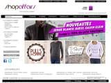 Boutiques en ligne Habillement : Achat vêtements, t shirts de marque discount