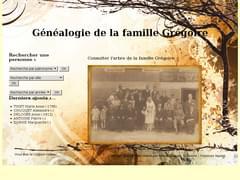 Modèle de site généalogique pré-conçu