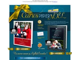 Cartes papier Joyeux Noël