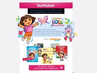 Newsletter Dora l'Exploratrice et Bob l'éponge