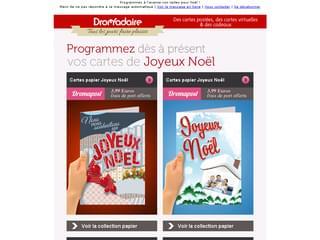 Newsletter Programmez vos cartes de Noël