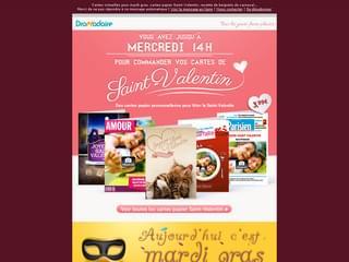 Newsletter St Valentin et mardi gras