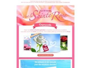 Envoyez des cartes ornées de roses