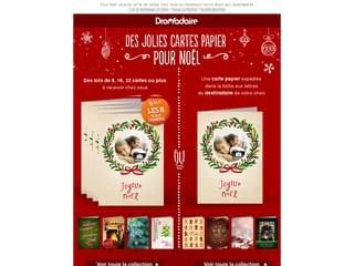 Envoyez de jolies cartes papier pour Noël