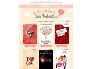 Auguri stampati San Valentino
