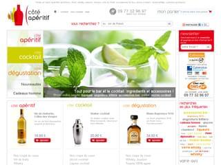 Tout pour l'apéritif, le cocktail, idées cadeaux : www.cote-aperitif.com