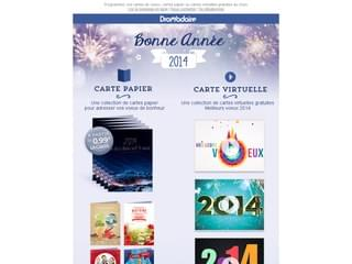 Pour vos voeux, choisissez les cartes papier ou les cartes virtuelles gratuites