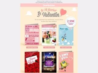 Les cartes imprimées Saint Valentin