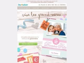 Les cartes imprimées fête des grand-mères