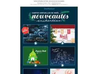 Les nouvelles cartes de Noël